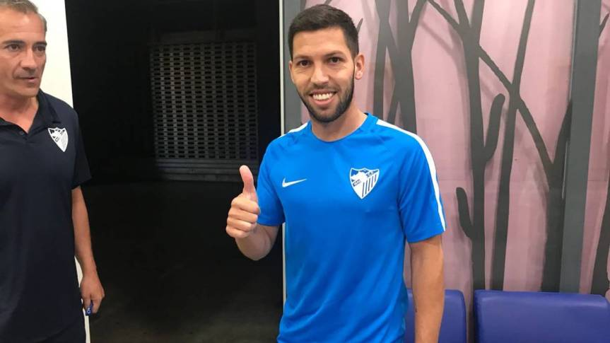 Dani Pacheco pasa el reconocimiento con el MálagaC.F