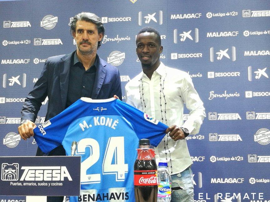 """Koné: """"Ojalá pueda jugar con el Málaga enPrimera"""""""