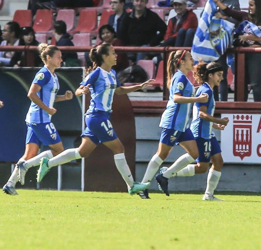 El Málaga CF Femenino conquista Las Gaunas y se aleja del descenso(1-2)
