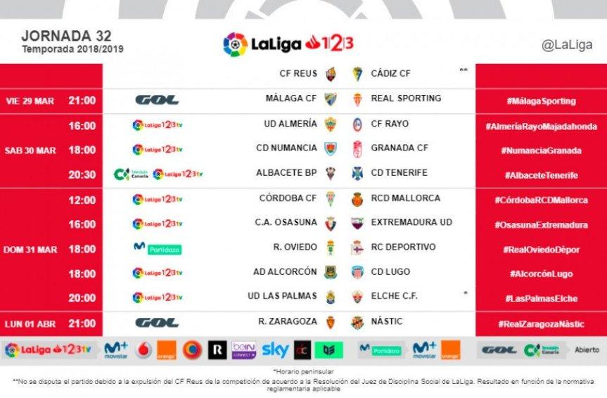 Horario confirmado para el Málaga CF – Sporting deGijón