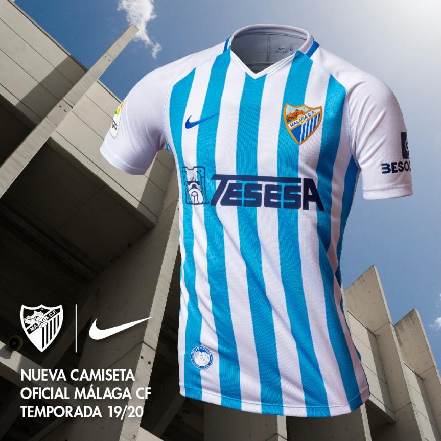 La nueva camiseta malaguista llevará La Rosaleda porbandera
