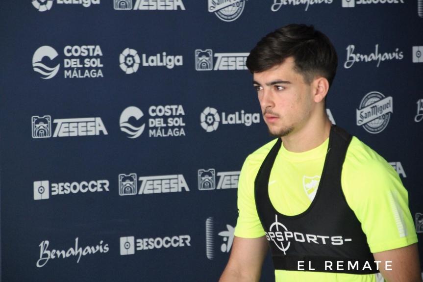 """Ramón: """"Ojalá algún día pueda estar en la primera plantilla y debutar en LaRosaleda"""""""