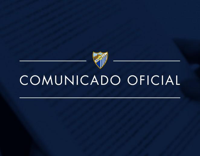 El Málaga CF emite un comunicado para calmar a lasmasas